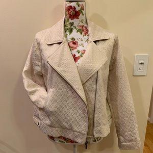 a new day Jackets & Coats - A New Day Cream/Gold Sparkle Jacket Size XXL
